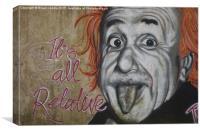 Albert in true form, Canvas Print
