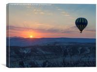 Hot Air Balloon at Sunrise, Canvas Print