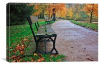 Autumn in Warsaw, Canvas Print