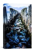 Old submarine base, Canvas Print