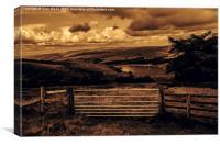 Goyt Valley landscape, Canvas Print