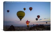 Balloons over Cappadocia, Canvas Print