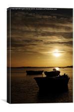 Fishing Boats in Cacela Velha, Canvas Print