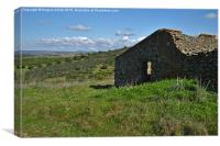 Abandoned Cottage in Alentejo , Canvas Print