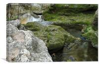 Zen creek rocky scenery , Canvas Print