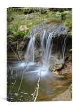 Cascade in a peaceful creek scenery , Canvas Print