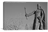 Statue of king Afonso the Third. Portugal , Canvas Print