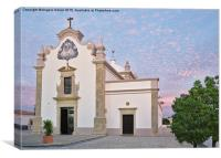 Church of St. Lawrence of Rome in Algarve, Canvas Print
