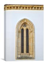 Window of a medieval cathedral , Canvas Print