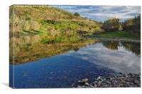 River Mirror , Canvas Print