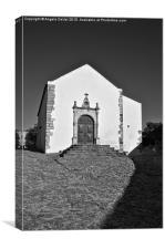 Church of Misericordia in Monochrome , Canvas Print