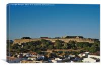 Castle of Castro Marim from the hill , Canvas Print