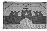 Calcada Portuguesa in Algarve , Canvas Print