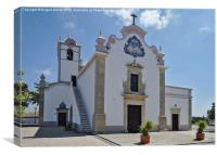 Church of St. Lawrence of Rome in Algarve , Canvas Print