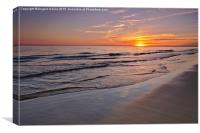 Last Minute Summer Beach Sunset in Algarve, Canvas Print