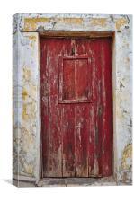 Old Red Door , Canvas Print