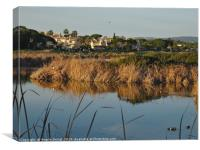 End of the day in Quinta do Lago, Canvas Print