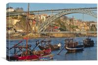 Douro Riverside in Porto, Canvas Print
