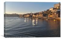 Douro scenery from bridge, Canvas Print