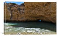 Secret Beach of Cala in Albufeira, Canvas Print
