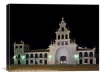 Church of the Virgen Del Rocio at night. Spain, Canvas Print