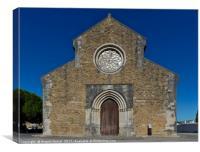 Santa Maria do Carmo church facade in Lourinha. Po, Canvas Print