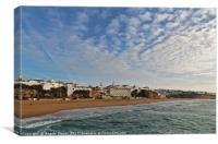 Morning in Peneco beach. Albufeira, Canvas Print