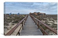 View of Ilha Deserta in Faro, Canvas Print