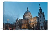 Saint Pauls Cathedral in London, Canvas Print