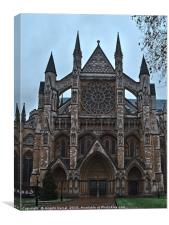 Westminster Abbey facade in London, Canvas Print