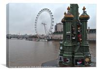 London eye from Westminster Bridge, Canvas Print