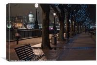 Along Thames River during Christmas, Canvas Print