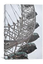 London Eye and Snow, Canvas Print