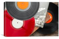 Vintage long play records, Canvas Print