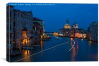 Blue hour in Venice, Canvas Print