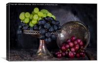 Vintage grapes, Canvas Print