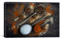 The world of spices, Canvas Print