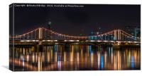 Chelsea Bridge at Night, Canvas Print