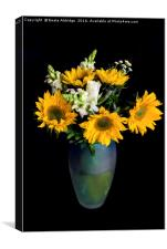 Bouquet of sunflowers, Canvas Print