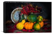 Autumn vegetables, Canvas Print