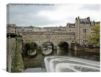 Pulteney Bridge in Bath, Canvas Print