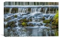Water Falls at Leeds Castle, Canvas Print