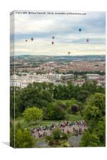 Balloons over Bristol, Canvas Print