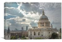 Catherdral under the Clouds, Canvas Print