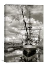 HMS GANNET CHATHAM HISTORIC DOCKYARD, Canvas Print