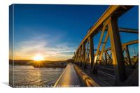 Rochester Bridge at sunset, Canvas Print