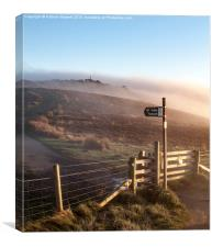 Peak District sunset view after the mist clears, Canvas Print