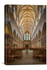 Wells Cathedral Nave, Canvas Print