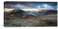 Lakes and Mountains, Canvas Print