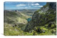 View from Snowdonia, Canvas Print